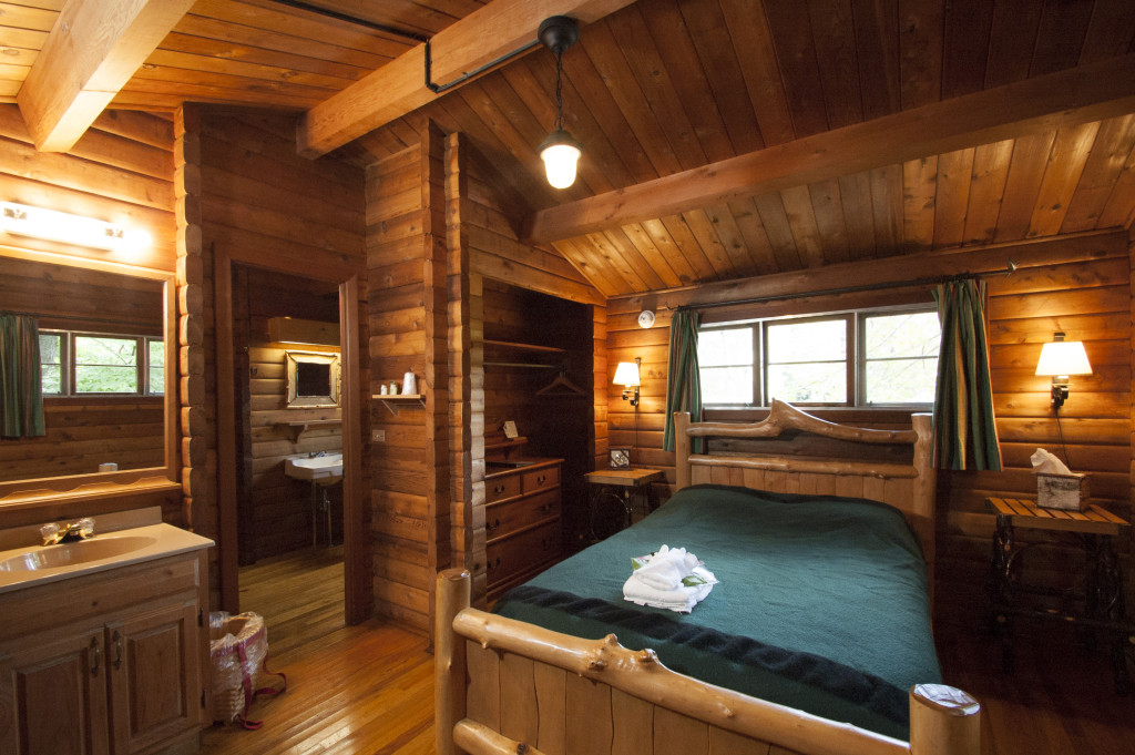 Hillside cabin bedroom