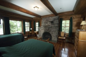 Main Lodge room #6 with fireplace